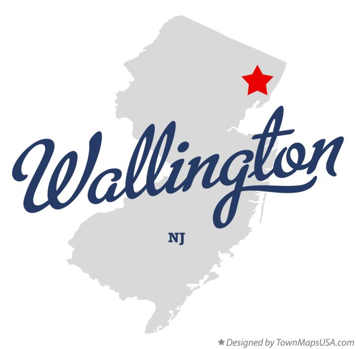 Map of Wallington New Jersey NJ