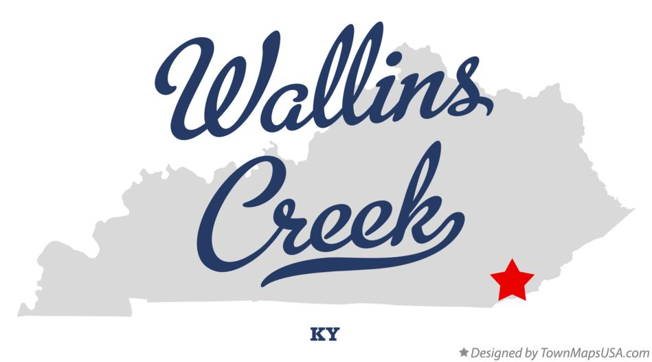 Map of Wallins Creek Kentucky KY