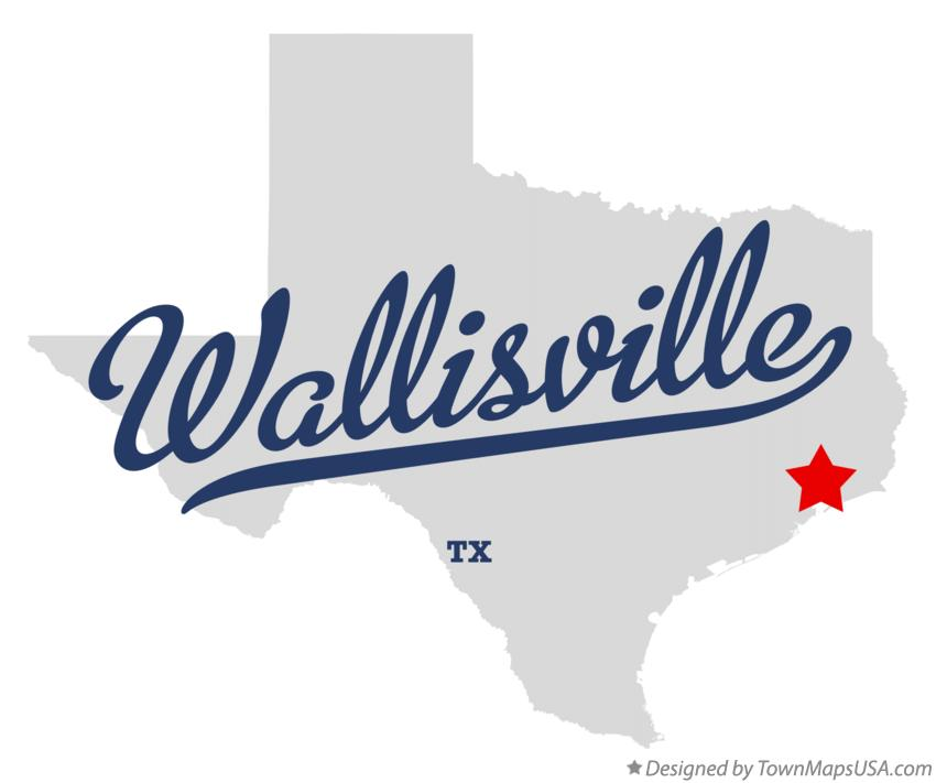 Map of Wallisville Texas TX