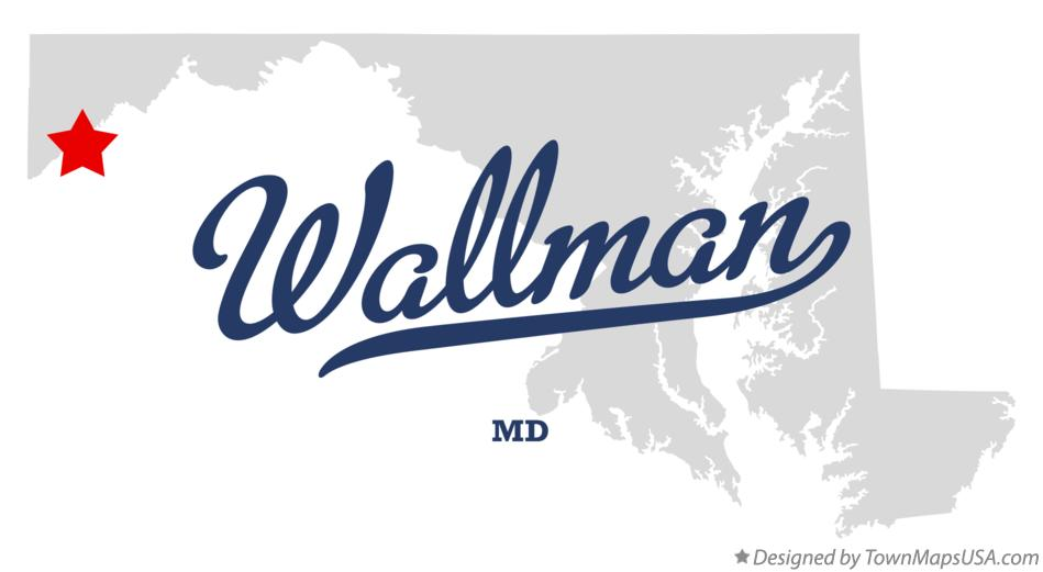 Map of Wallman Maryland MD