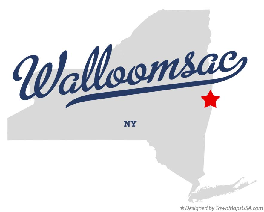 Map of Walloomsac New York NY
