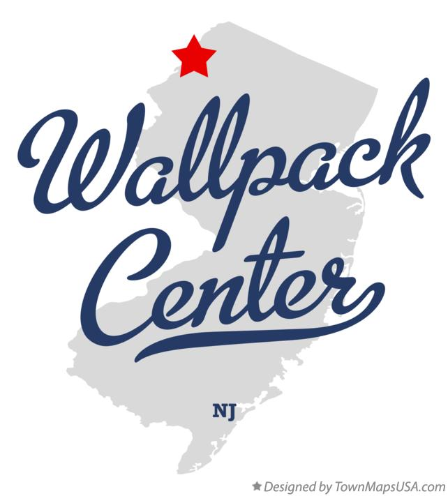Map of Wallpack Center New Jersey NJ