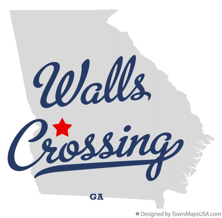 Map of Walls Crossing Georgia GA