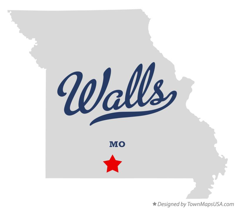 Map of Walls Missouri MO