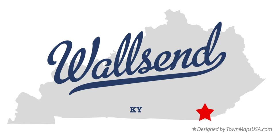 Map of Wallsend Kentucky KY