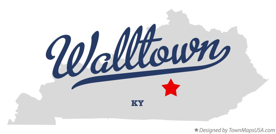 Map of Walltown Kentucky KY