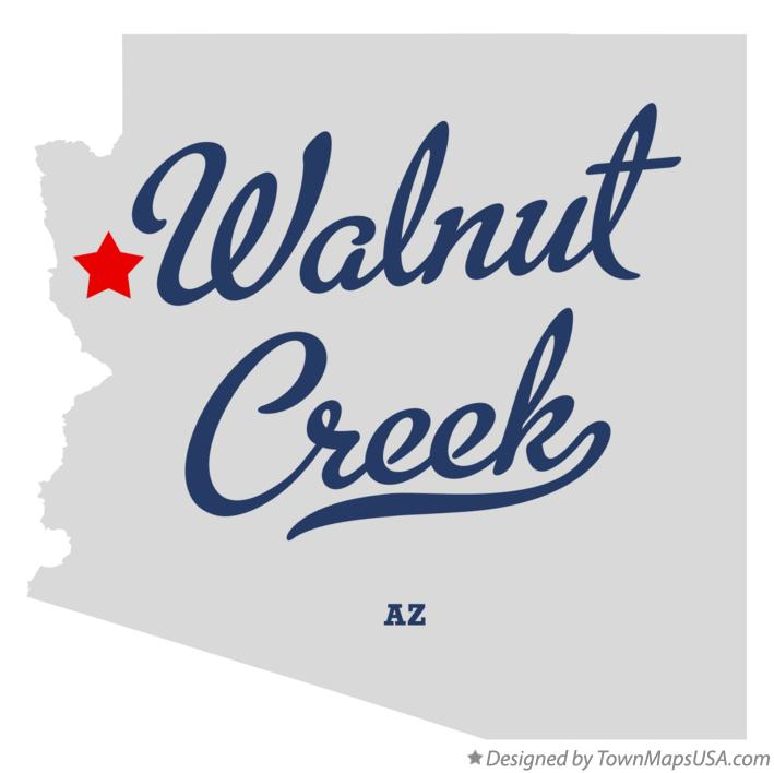 Map of Walnut Creek Arizona AZ