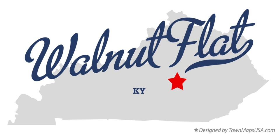 Map of Walnut Flat Kentucky KY