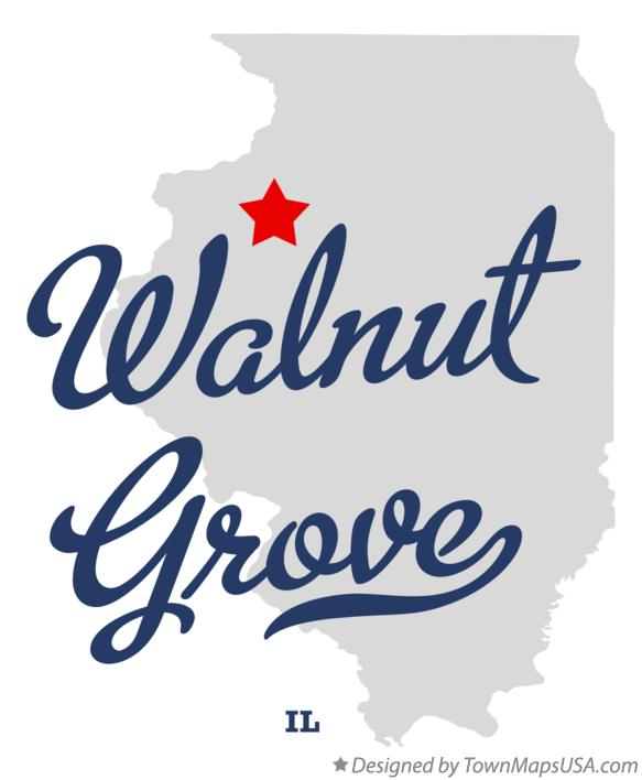 Map of Walnut Grove Illinois IL