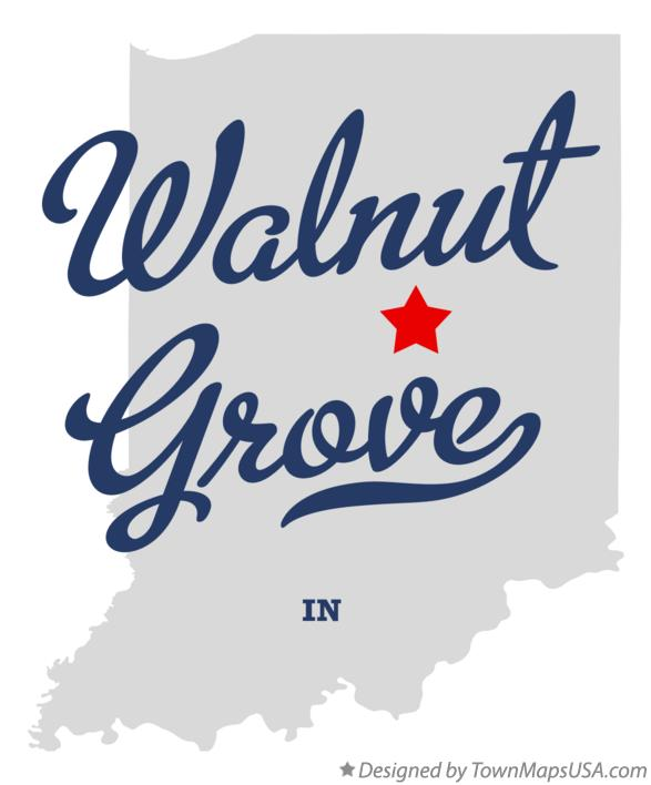 Map of Walnut Grove Indiana IN