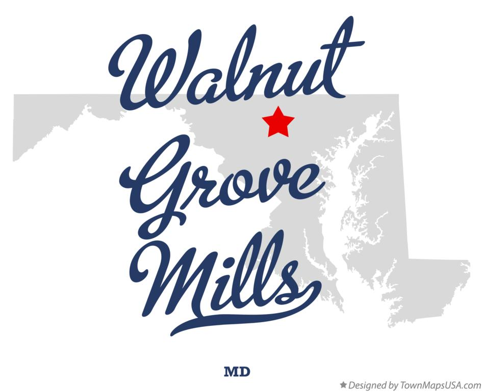 Map of Walnut Grove Mills Maryland MD