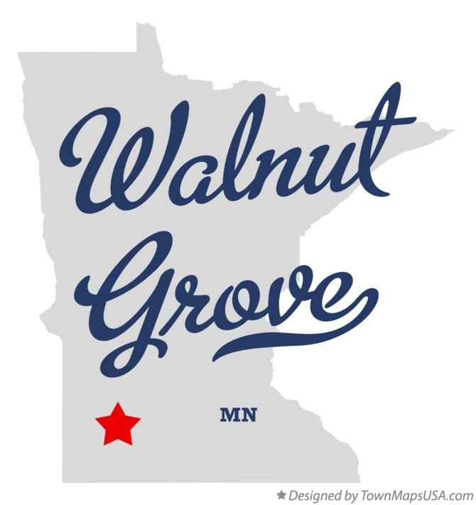 Map of Walnut Grove Minnesota MN