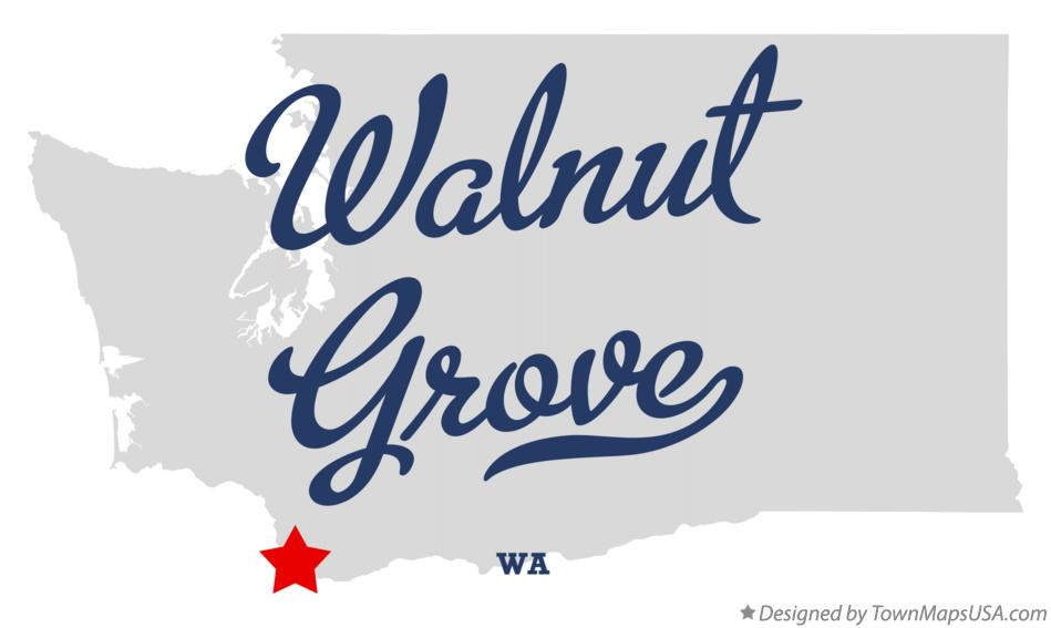 Map of Walnut Grove Washington WA