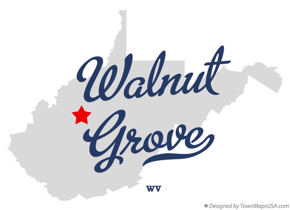 Map of Walnut Grove West Virginia WV
