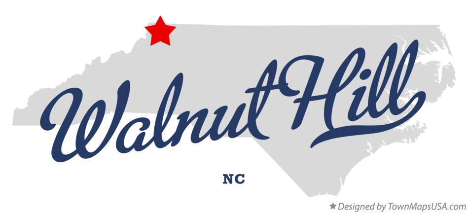 Map of Walnut Hill North Carolina NC