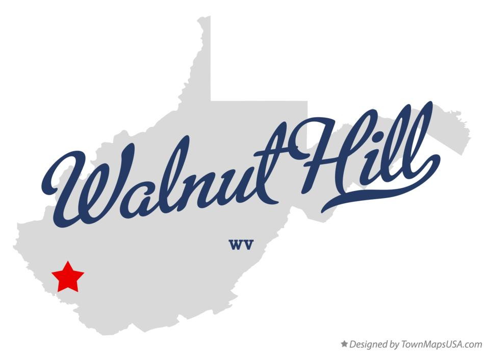 Map of Walnut Hill West Virginia WV