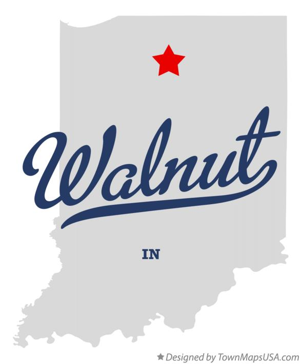 Map of Walnut Indiana IN