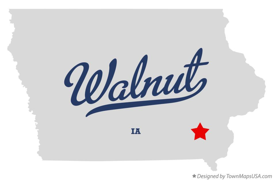 Map of Walnut Iowa IA