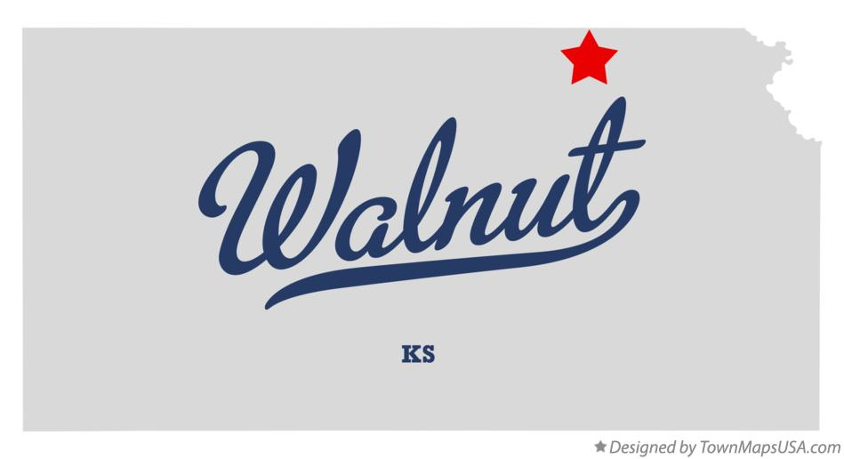 Map of Walnut Kansas KS
