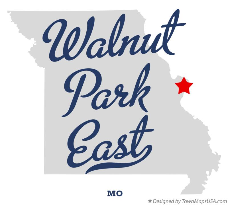 Map of Walnut Park East Missouri MO