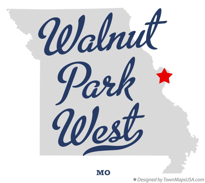 Map of Walnut Park West Missouri MO