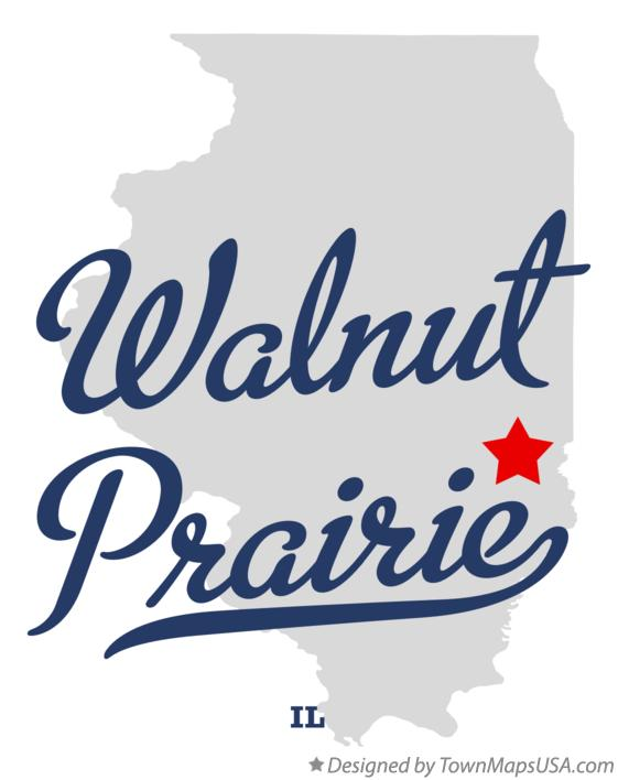 Map of Walnut Prairie Illinois IL