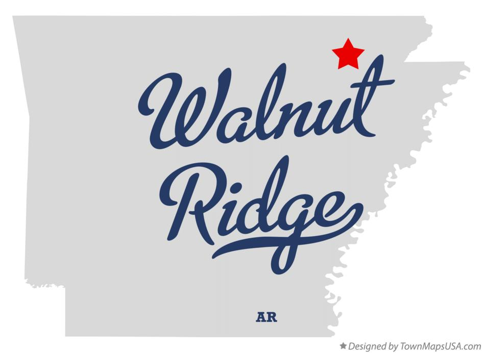 Map of Walnut Ridge Arkansas AR