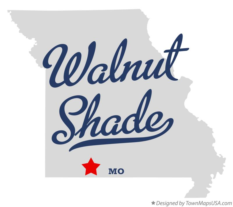 Map of Walnut Shade Missouri MO