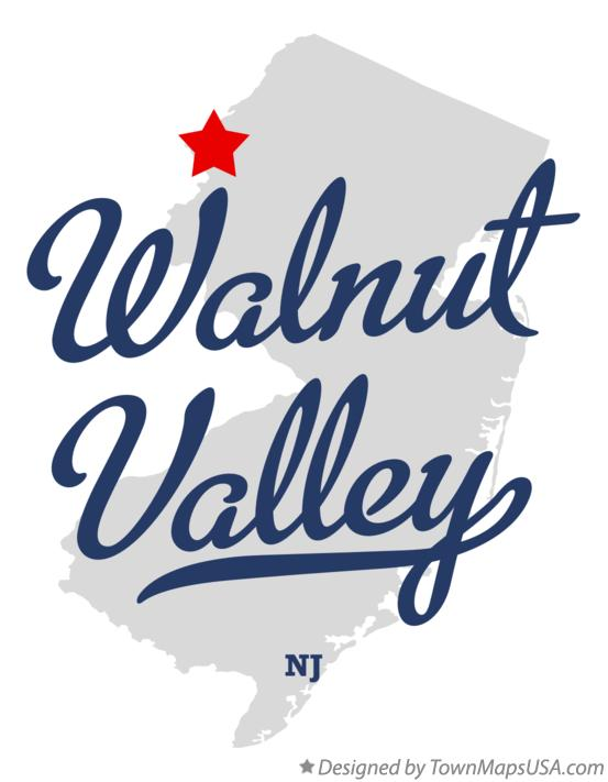 Map of Walnut Valley New Jersey NJ