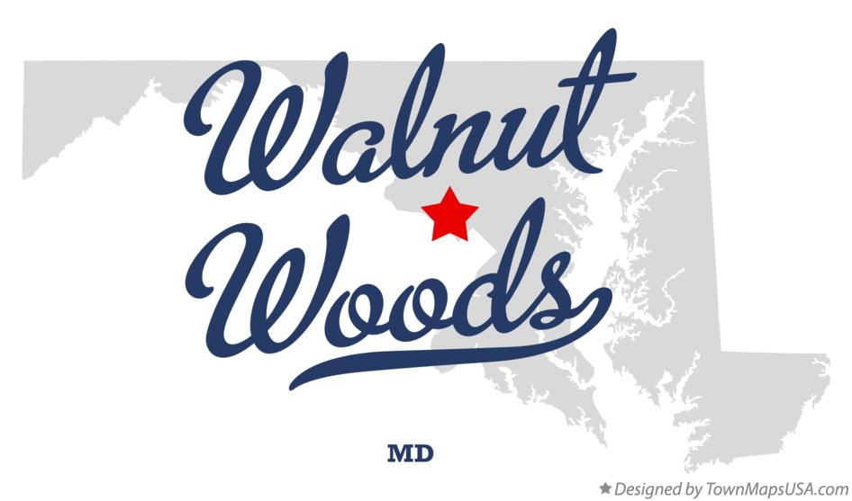 Map of Walnut Woods Maryland MD