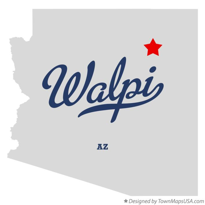 Map of Walpi Arizona AZ