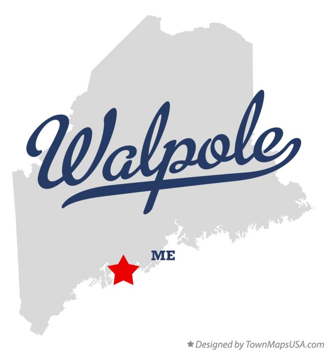 Map of Walpole Maine ME