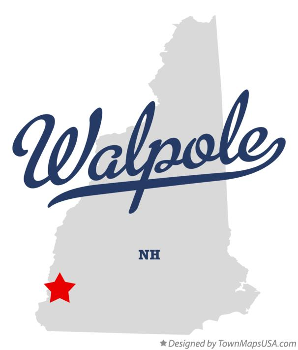 Map of Walpole New Hampshire NH
