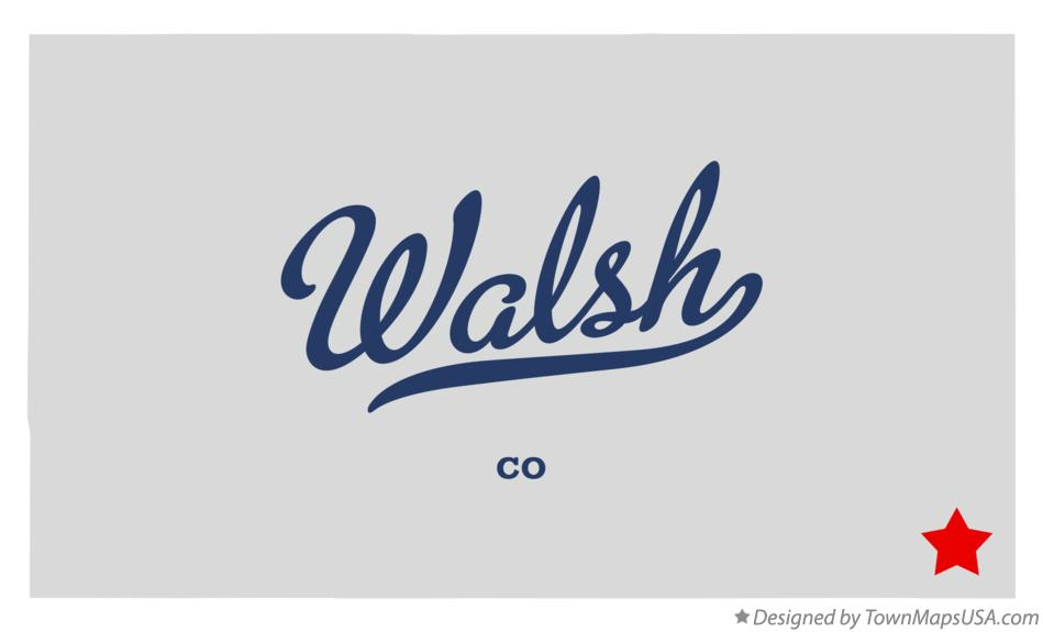Map of Walsh Colorado CO