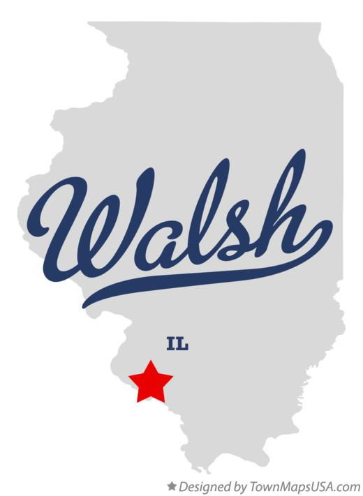 Map of Walsh Illinois IL