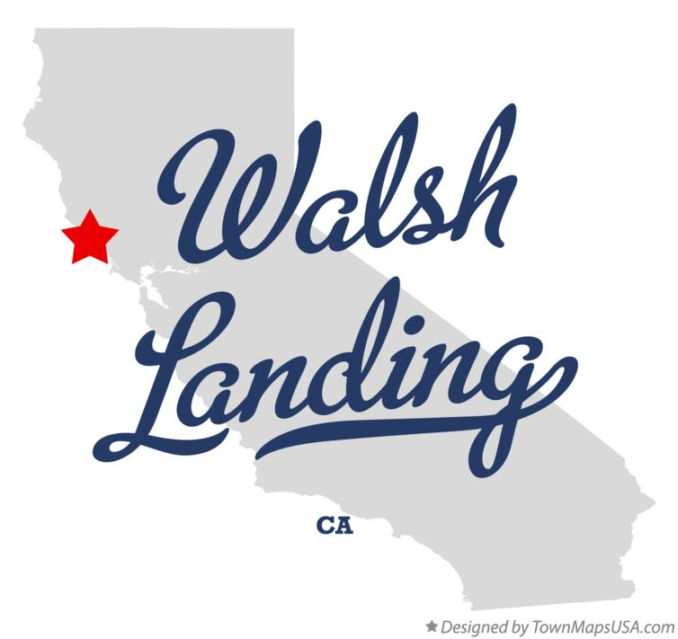 Map of Walsh Landing California CA
