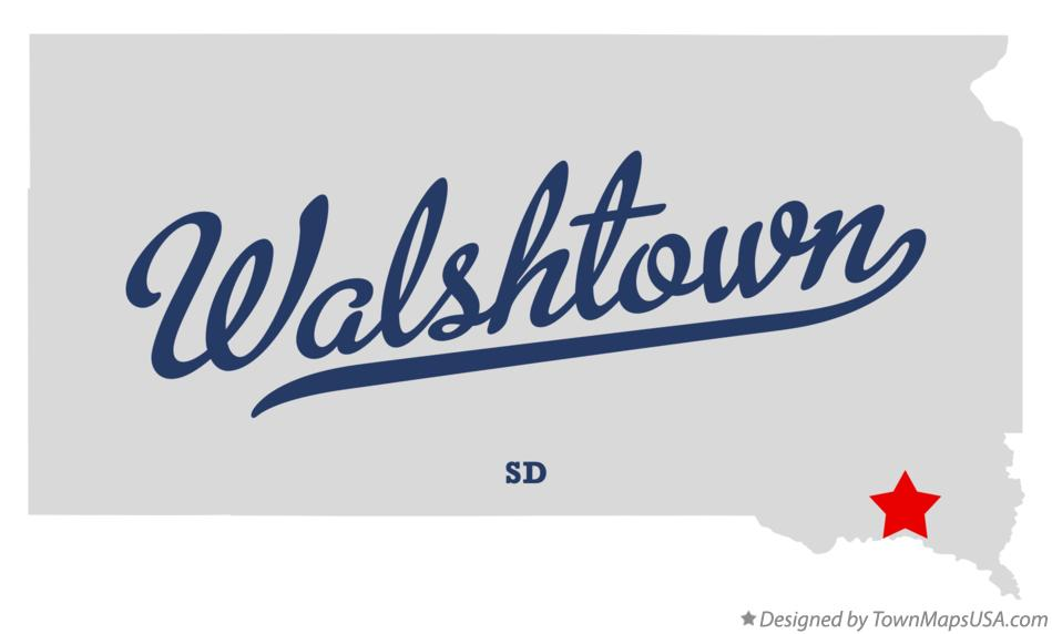 Map of Walshtown South Dakota SD