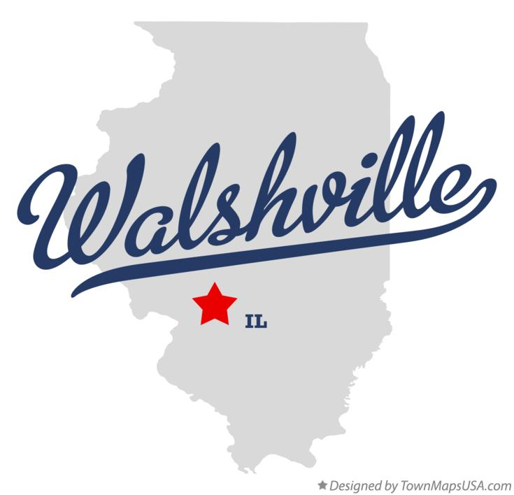 Map of Walshville Illinois IL