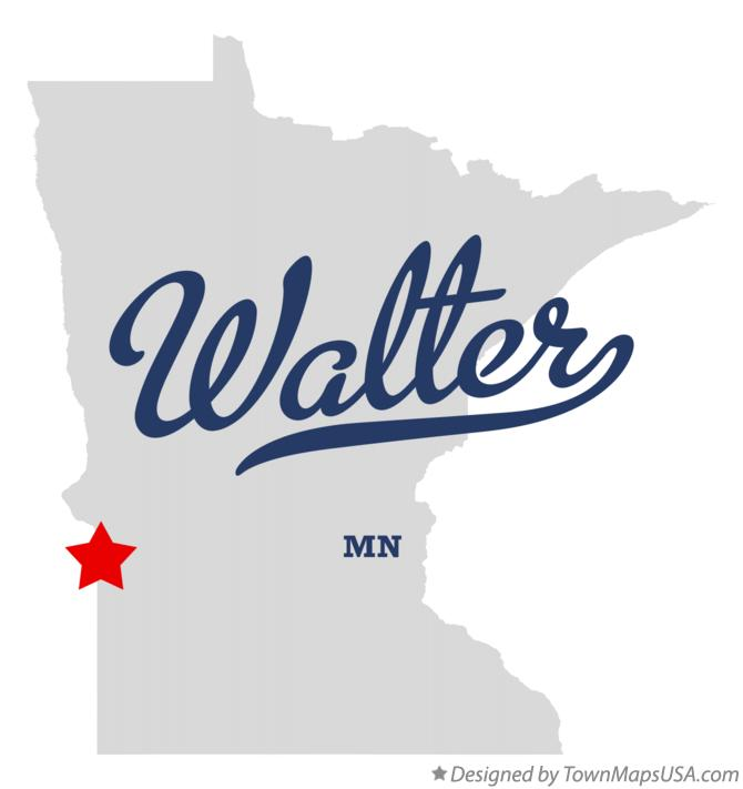 Map of Walter Minnesota MN