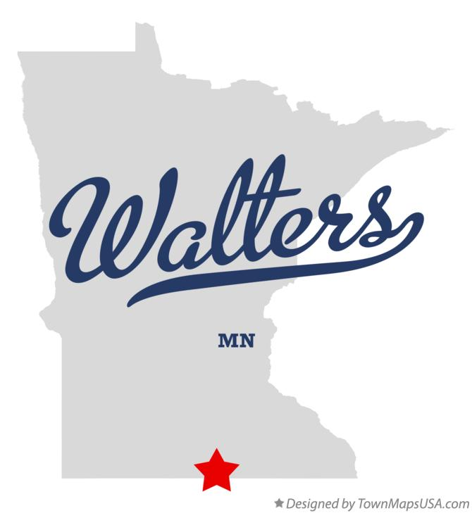 Map of Walters Minnesota MN