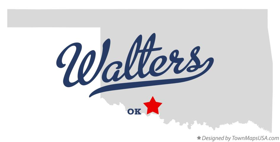 Map of Walters Oklahoma OK
