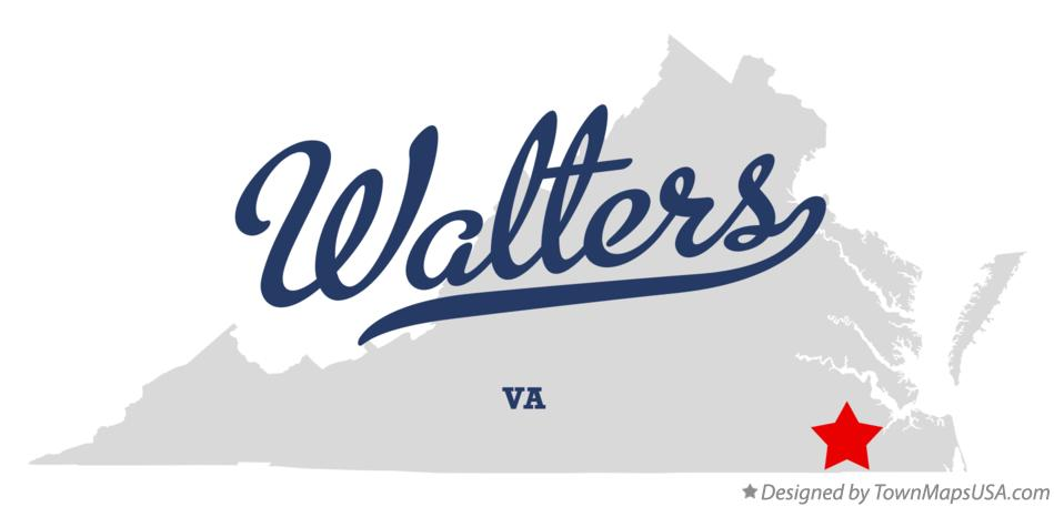 Map of Walters Virginia VA