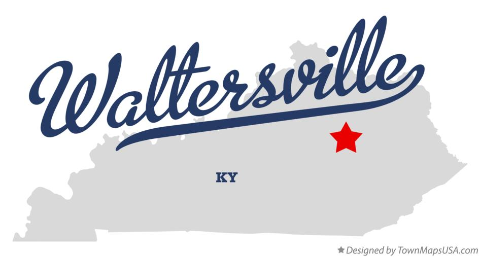 Map of Waltersville Kentucky KY