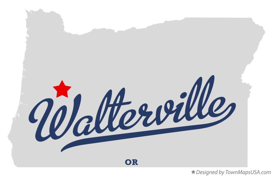 Map of Walterville Oregon OR