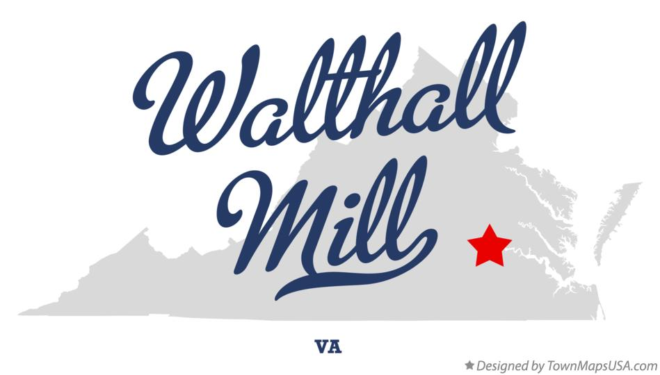 Map of Walthall Mill Virginia VA