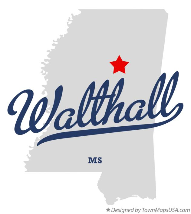 Map of Walthall Mississippi MS