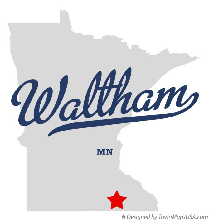 Map of Waltham Minnesota MN
