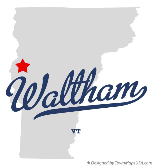 Map of Waltham Vermont VT