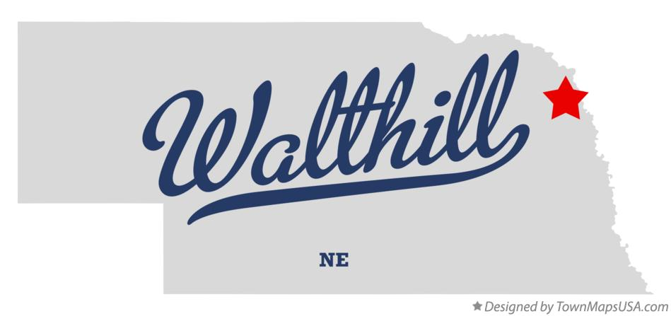 Map of Walthill Nebraska NE