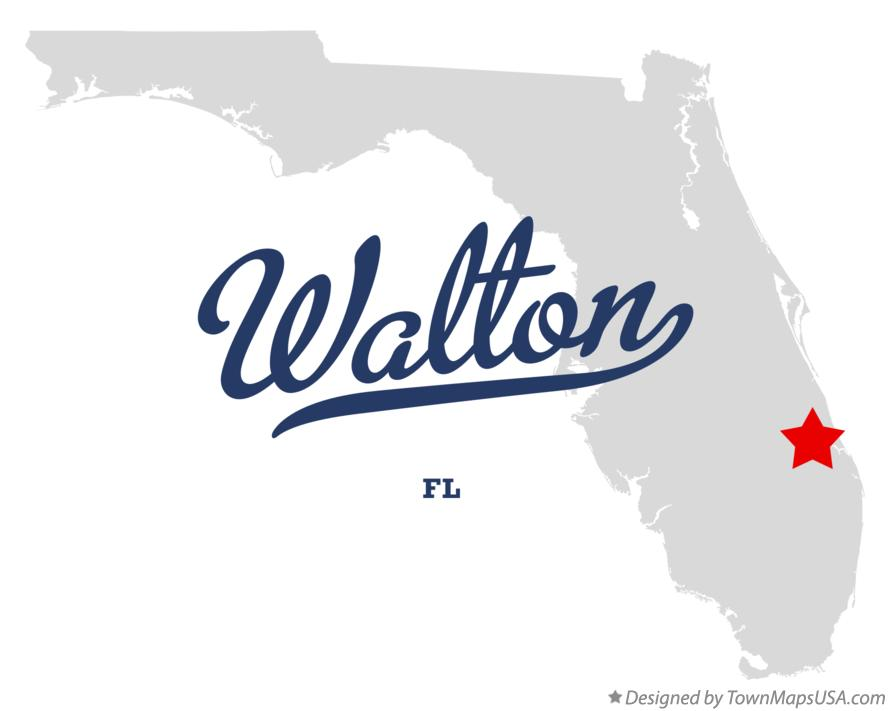Map of Walton Florida FL